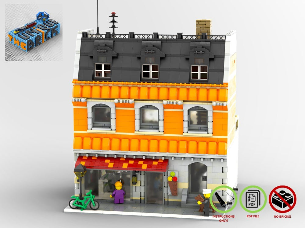 LEGO-MOC - Modular Ice Cream Store - The Unique Brick