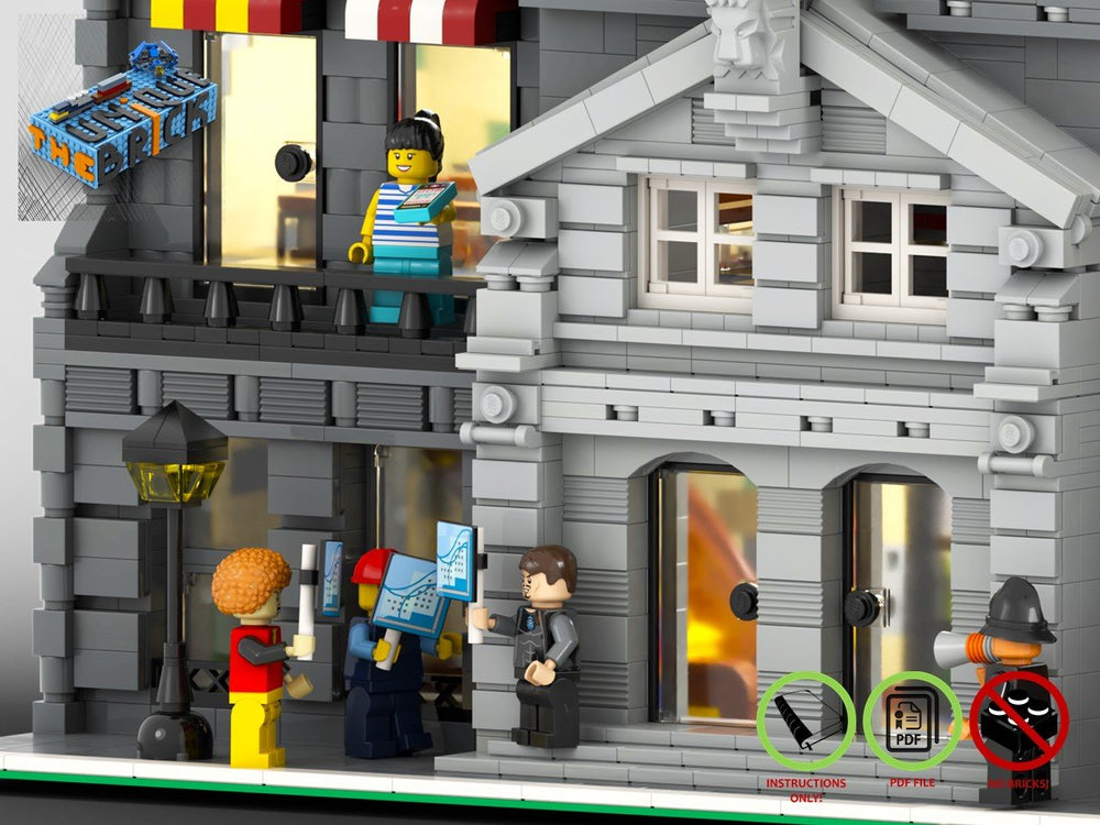 Load image into Gallery viewer, LEGO-MOC - Modular Town Hall - The Unique Brick