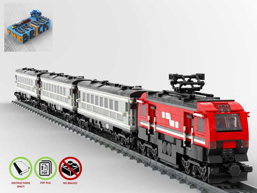 LEGO-MOC - Passenger Train - The Unique Brick