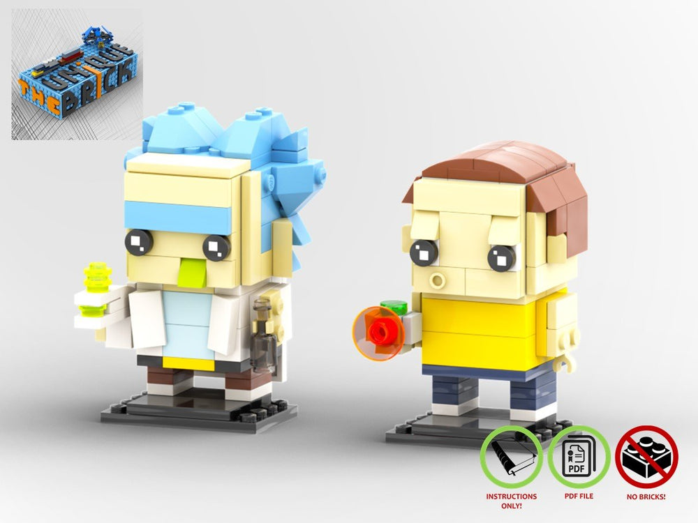 LEGO-MOC - RICK AND MORTY BRICKHEADZ - The Unique Brick