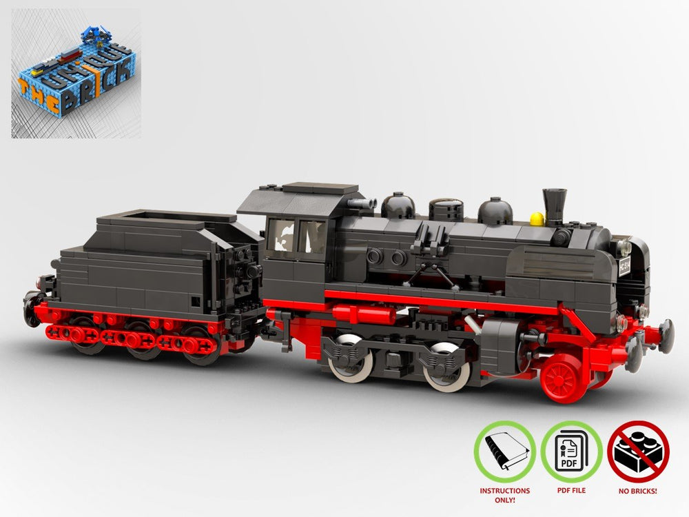 LEGO-MOC - Steam Locomotive (BR-24) - The Unique Brick