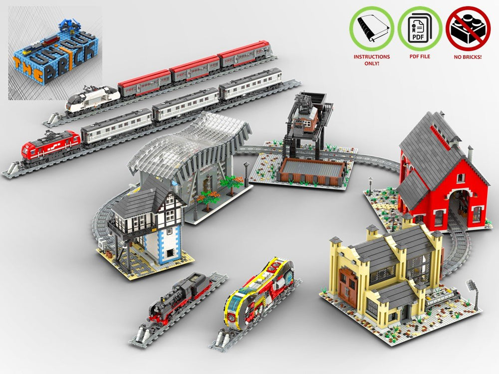 LEGO-MOC - Train Collection - The Unique Brick