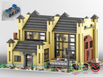 LEGO-MOC - Train Engine Shed (Tan) - The Unique Brick