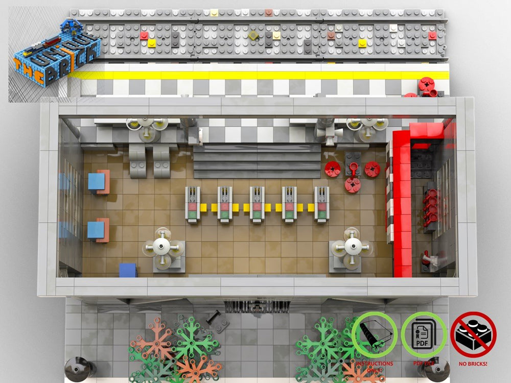 Load image into Gallery viewer, LEGO-MOC - Train Station - The Unique Brick