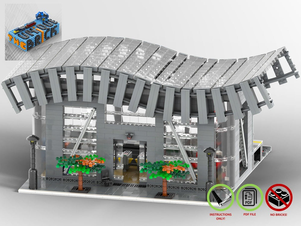 LEGO-MOC - Train Station - The Unique Brick