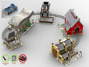 Load image into Gallery viewer, LEGO-MOC - Train Structures Collection - The Unique Brick