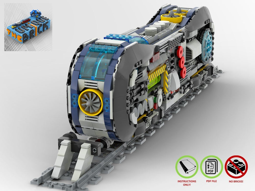 LEGO-MOC - Wacko Loco Train Locomotive - The Unique Brick