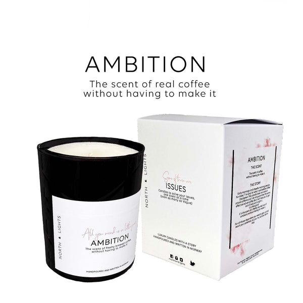 Ambition. The scent of freshly brewed coffee without having to make it.