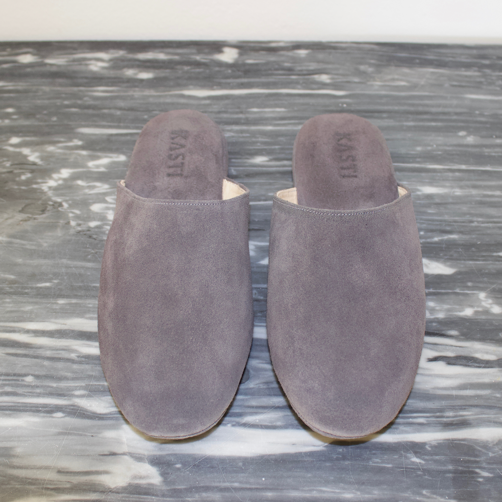 MERCURY Suede leather slipper Grey