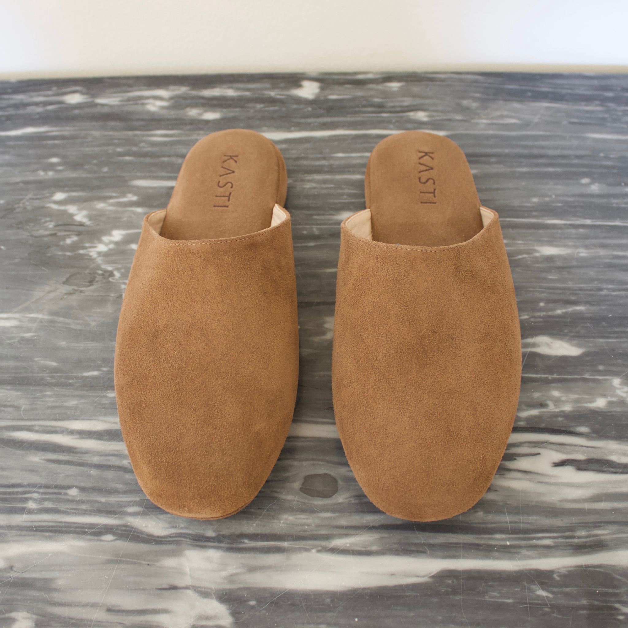 MERCURY Suede leather slipper Nut