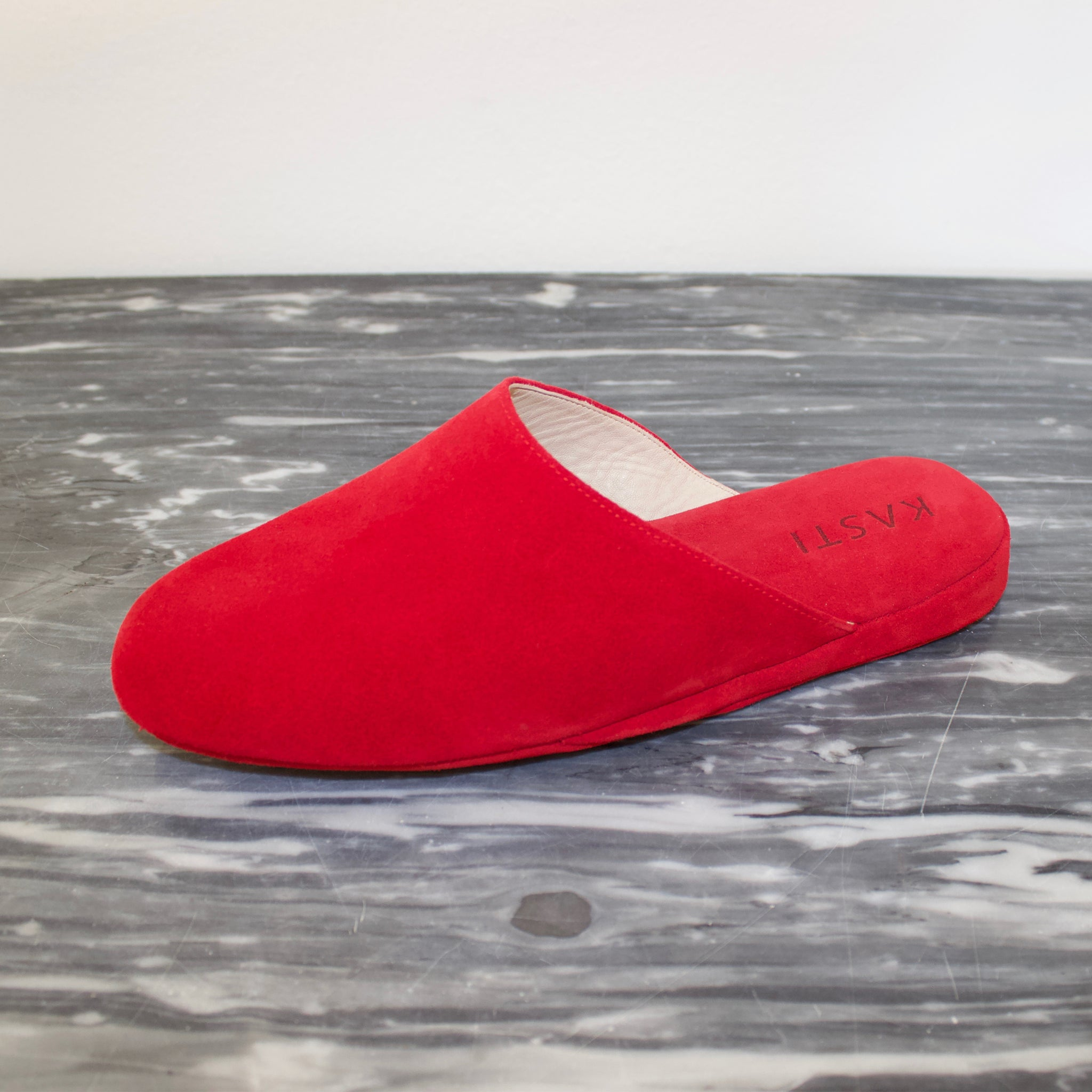 MERCURY Suede leather slipper Red
