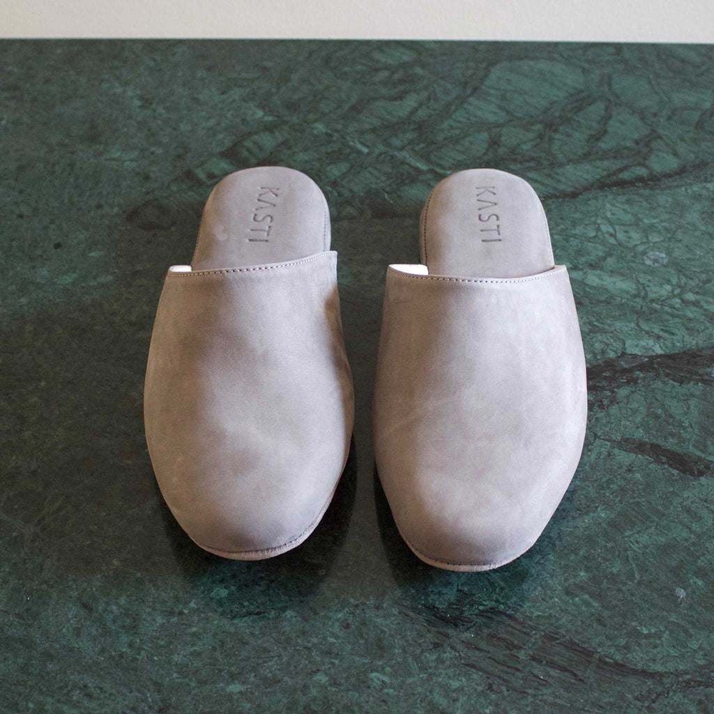 MARS Nubuck leather slipper GREY