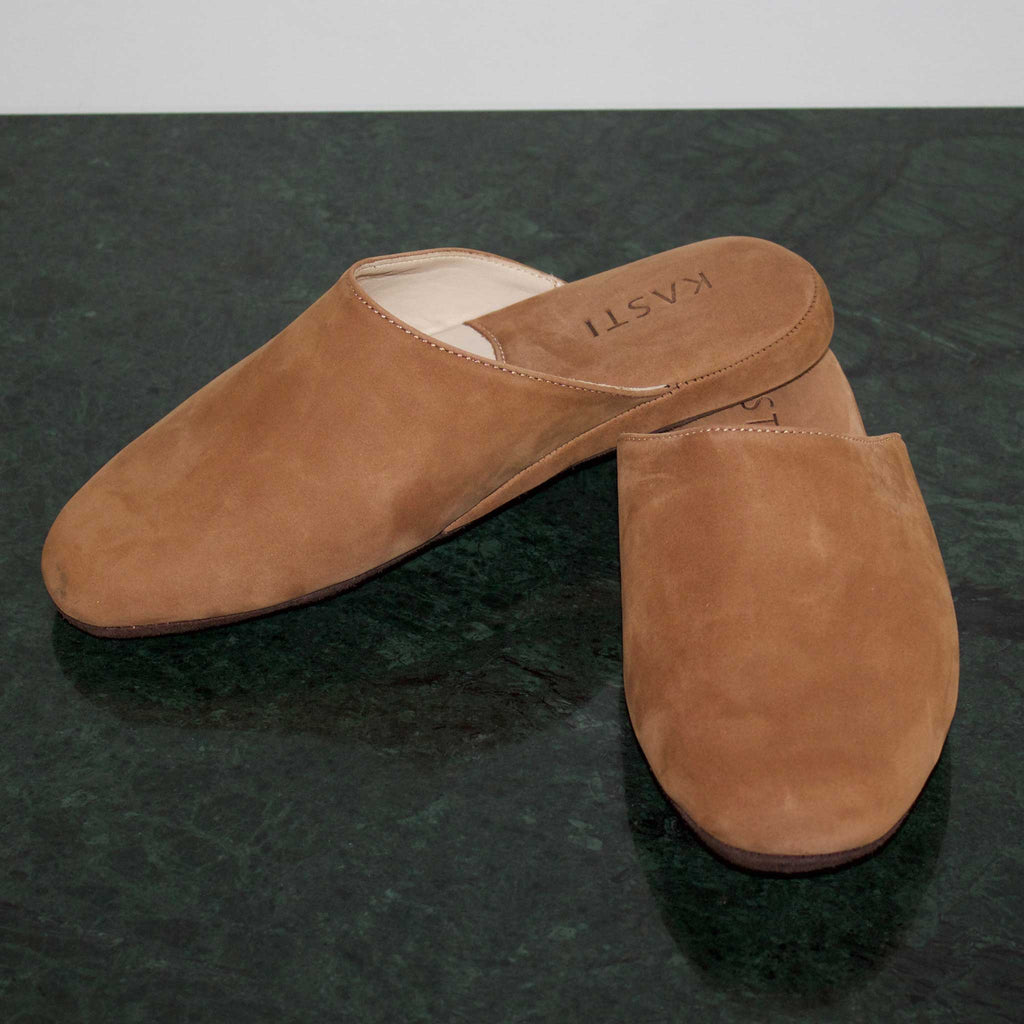 MARS Nubuck leather slipper TAN
