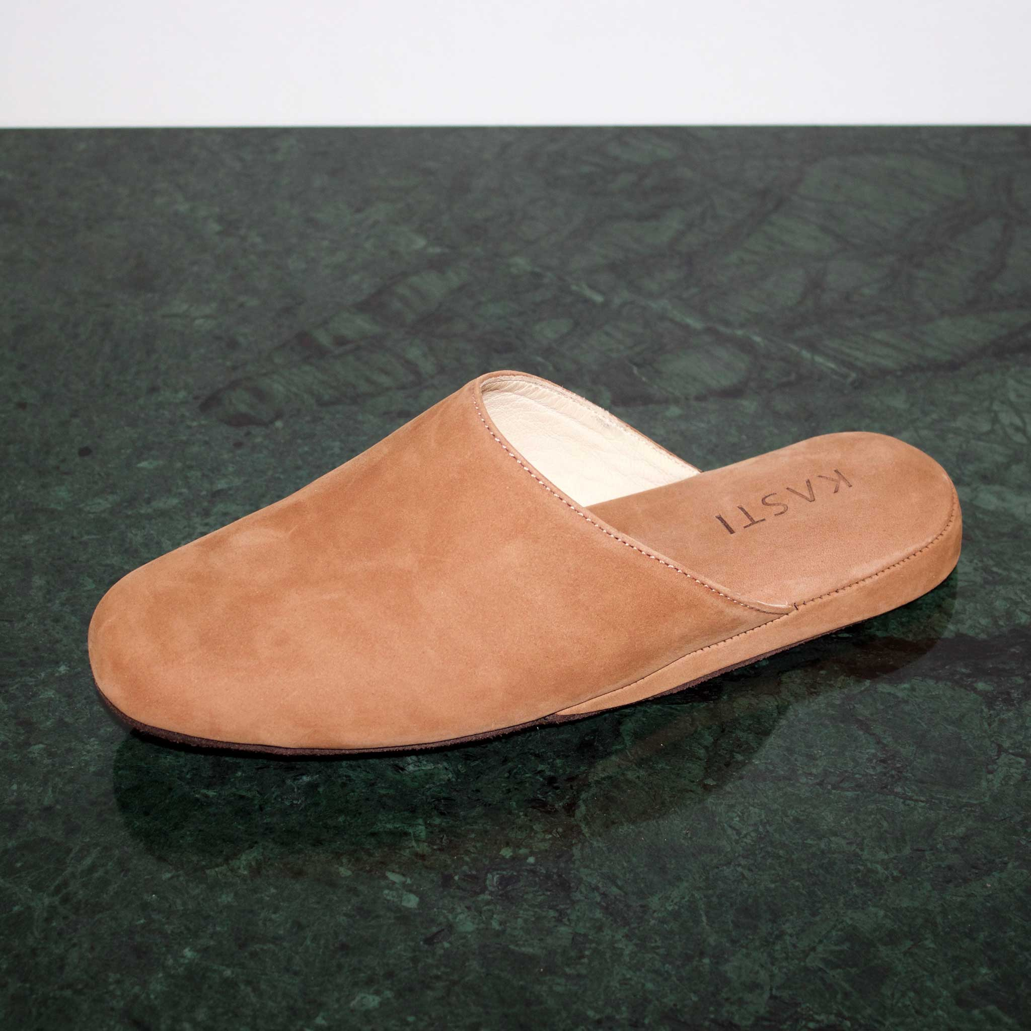 MARS Nubuck leather slipper beige