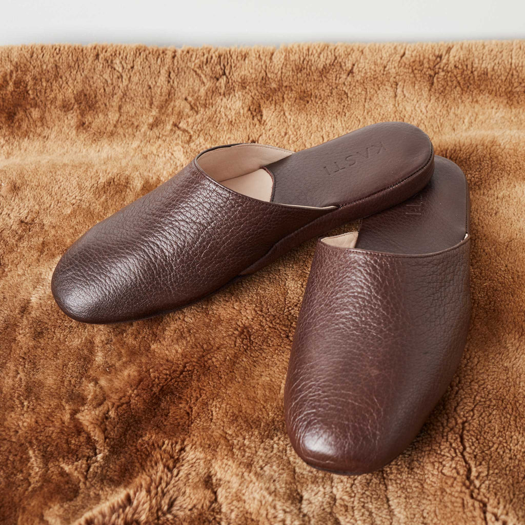 VENUS Premium deerskin slipper brown