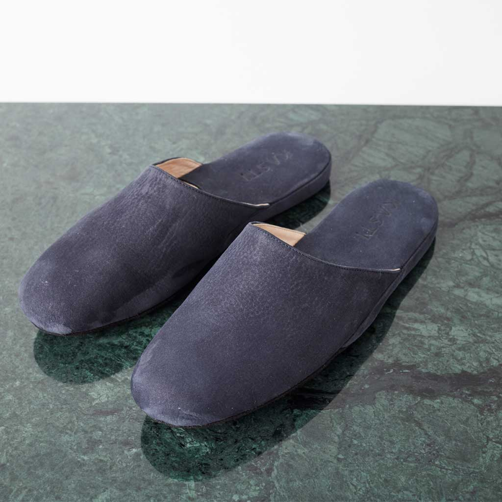 MARS Nubuck leather slipper blue
