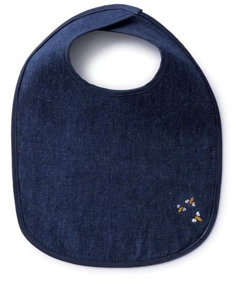 Hemp Denim Soft Baby Bib