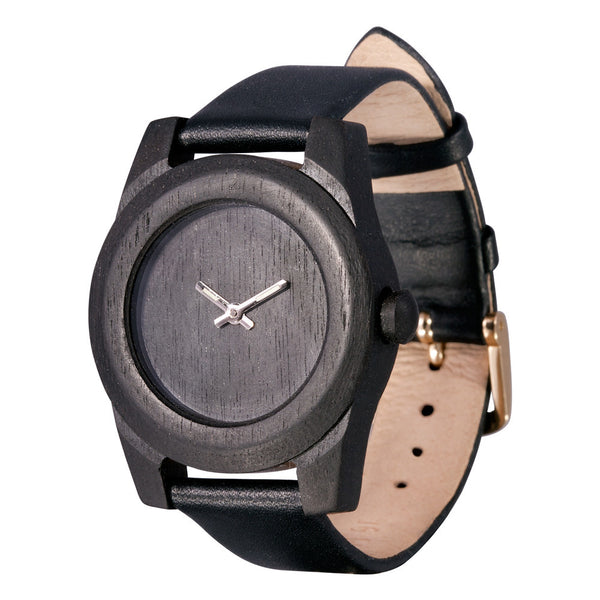AA Wooden Watches Lady Ebenholz