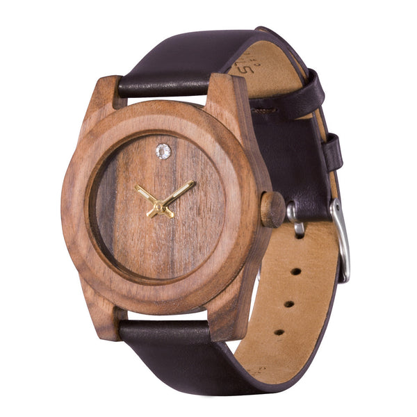 AA Wooden Watches Lady Palisander Kristall