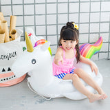 Unicorn inflatable float for baby