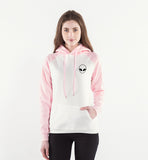 Alien Face Hoodie Women (White/Pink) - PMG Goods