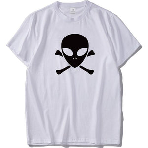 Alien Skull n Bones Tshirt Men (Black or White) - PMG Goods