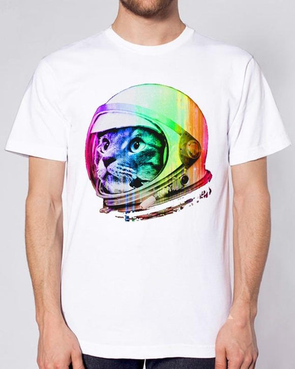 Cat-stronaut T shirt Men - PMG Goods