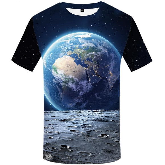 The Blue Marble T Shirt Men - PMG Goods