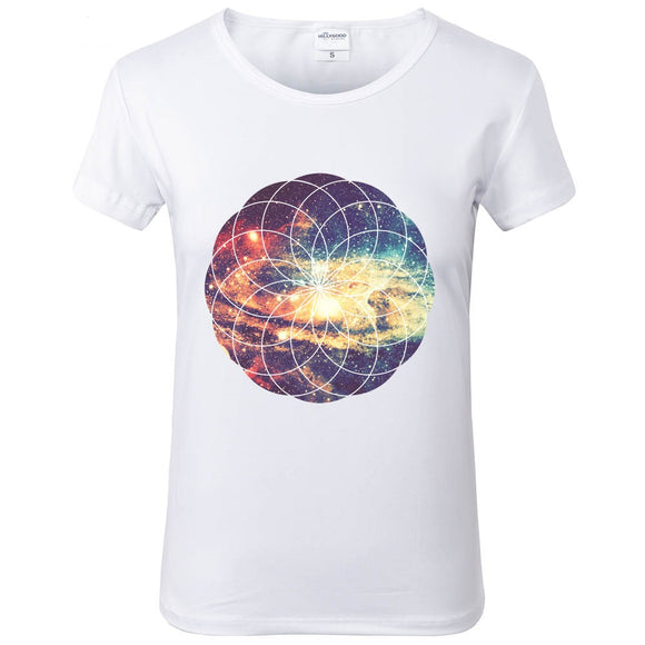Geometric Space T shirt Women - PMG Goods