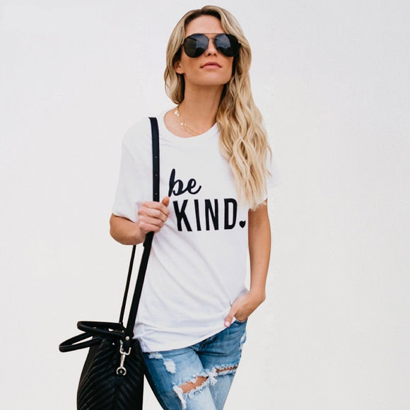 Be Kind Printed T Shirt Women - PMG Goods