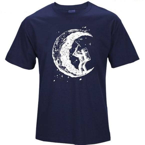 Moon Miner Print T shirt Men (5 colors) - PMG Goods