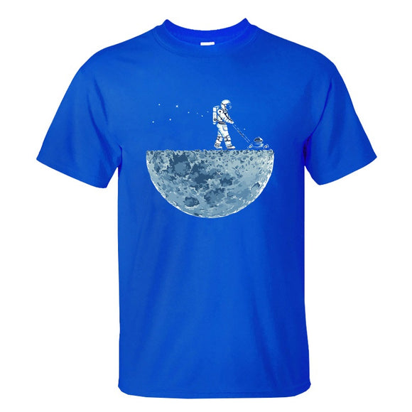 Mowing Spaceman T shirt Men (3 colors) - PMG Goods