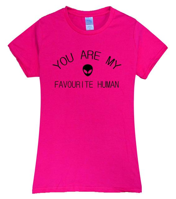 My Favorite Human Alien T shirt Women (Many colors) - PMG Goods