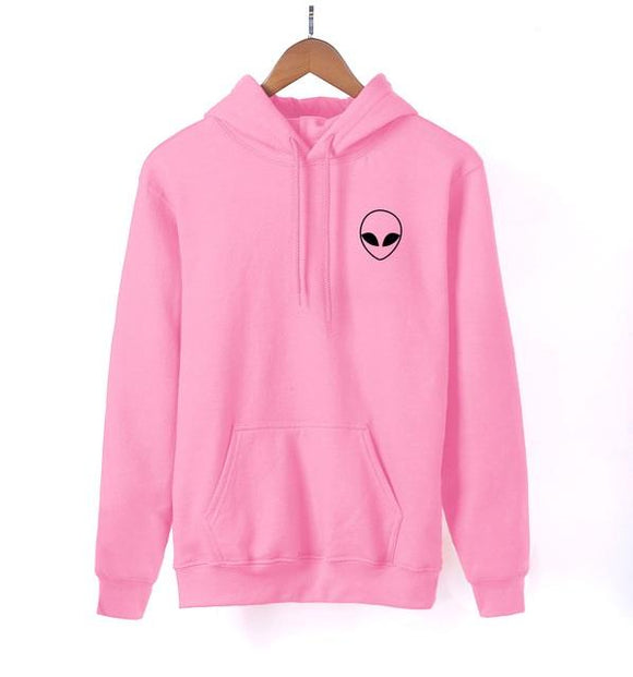 Alien Pocket Print Hoodie Women (6 colors) - PMG Goods