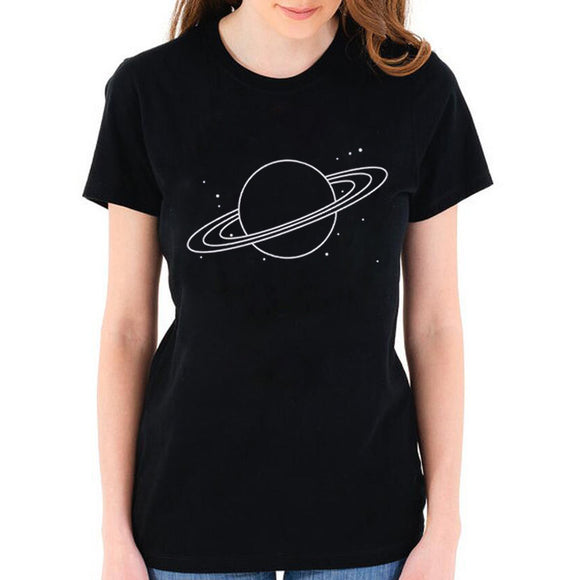 Planet Saturn T Shirt Women - PMG Goods