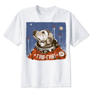 USSR DogStronaut T Shirt Men - PMG Goods