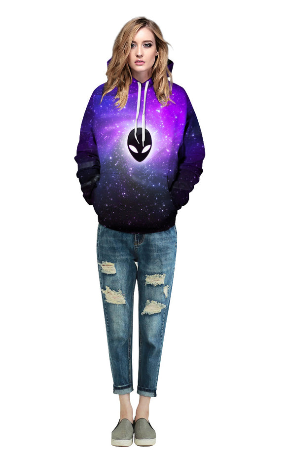 Galaxy Alien Hoodie Women - PMG Goods