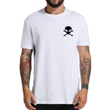 Pocket Alien Skull N Bones T Shirt Men (Black or white) - PMG Goods
