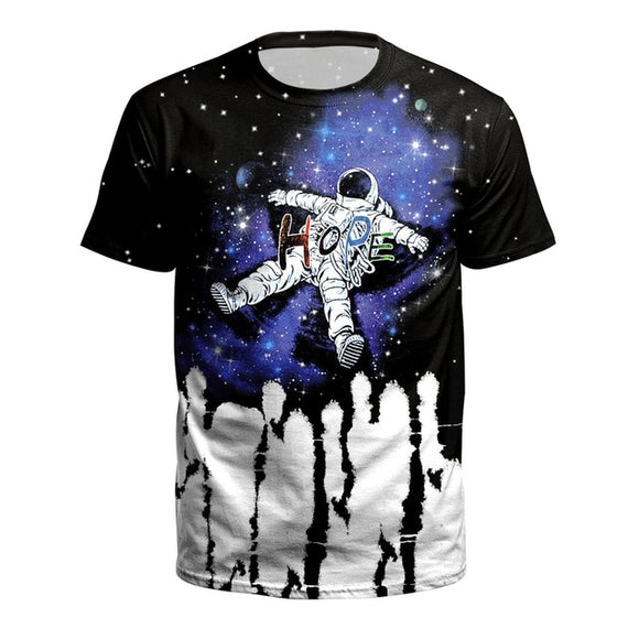 Floating Astronaut T Shirt Men - PMG Goods