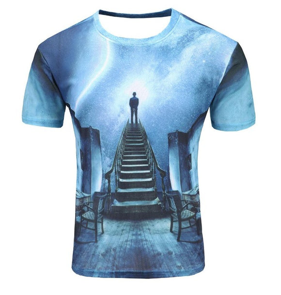 Stairway to the Galaxy T Shirt Men - PMG Goods
