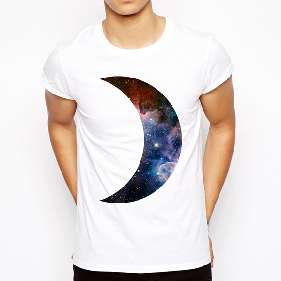 Half Moon Universe T Shirt Men - PMG Goods