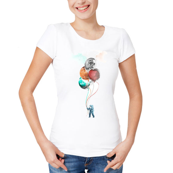 Planet Balloons T Shirt Women - PMG Goods