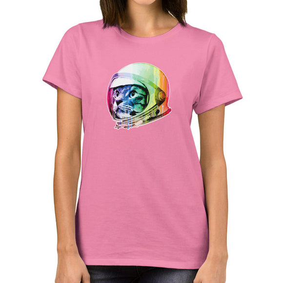 Cat-stronaut T shirt Women (5 colors) - PMG Goods