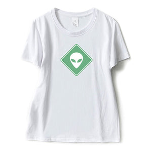 Alien Sign T Shirt Women (3 colors) - PMG Goods