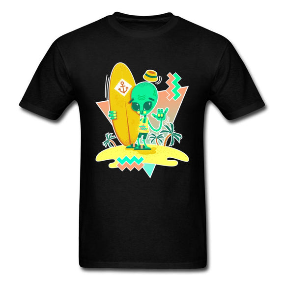Surfing Alien Dude T shirt Unisex (5 colors) - PMG Goods