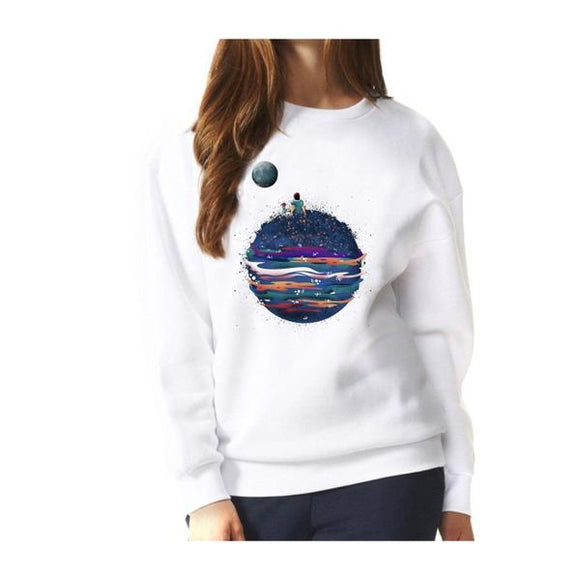 Beautiful Space Sweatshirt Women (White or pink) - PMG Goods