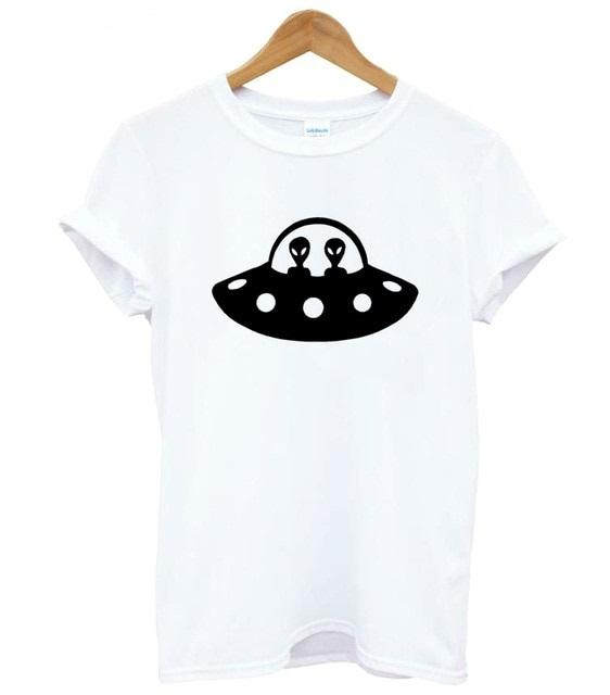 Saucer T shirt Women (Black, White or Gray) - PMG Goods
