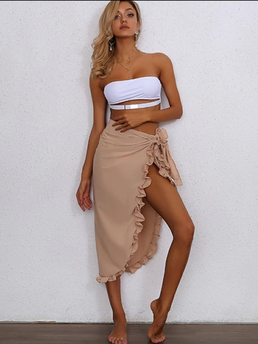 Ruffle Beach Skirt