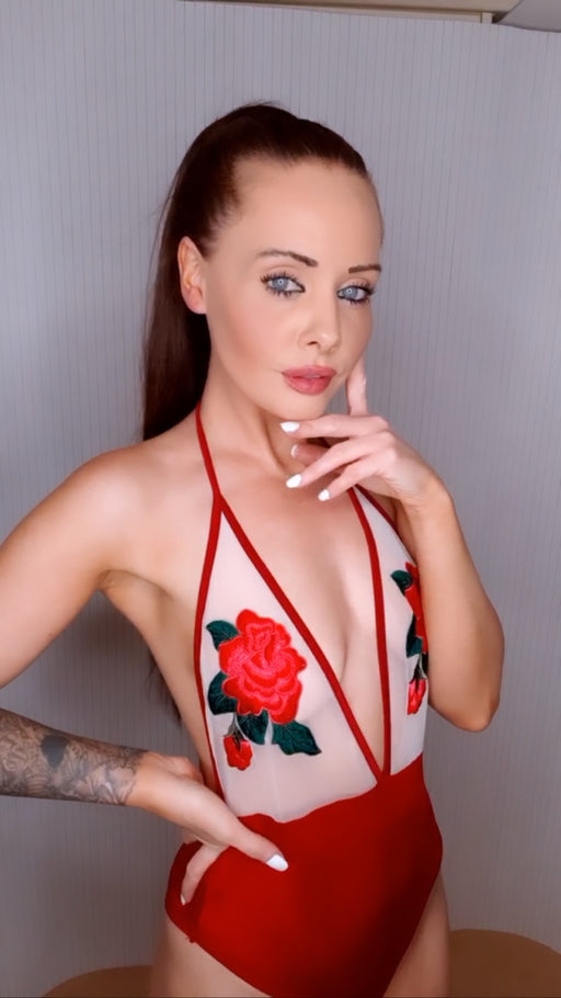 Red Rose Swimsuit