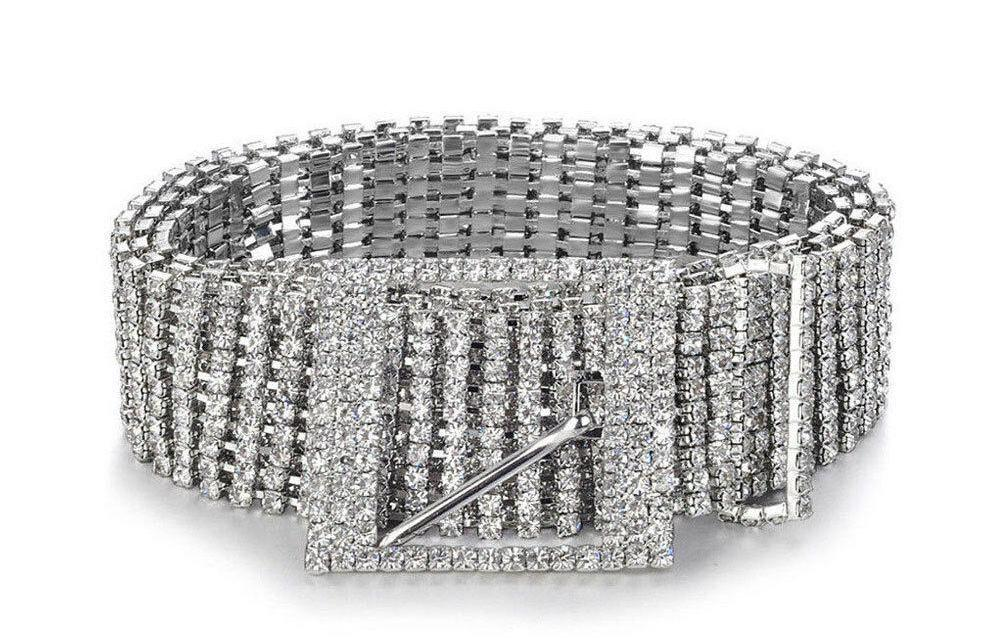 Platinum Crystal Luxe Belt